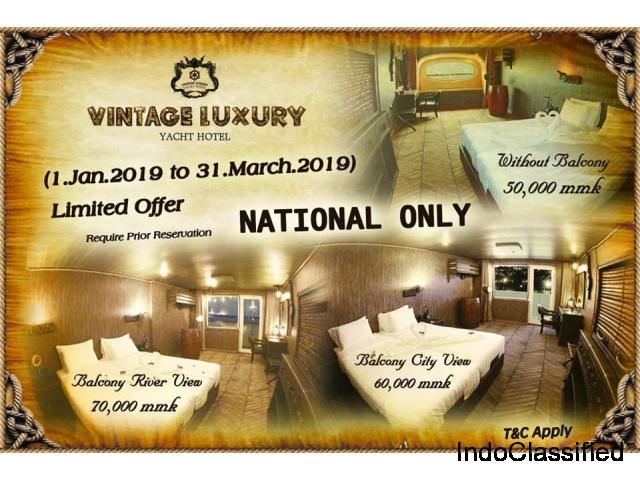 Room promotional deal from Vintage luxury yacht hotel