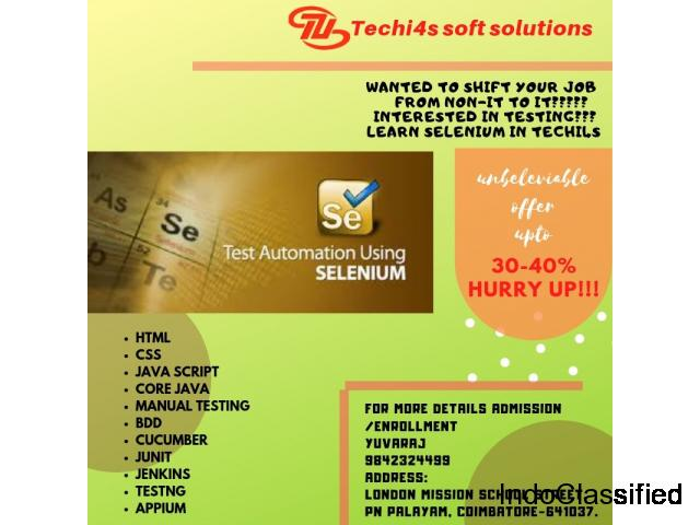 Offer on Selenium automation testing course!!!