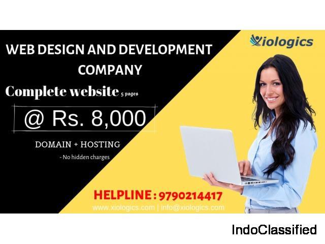 Web design & development for Rs.8000 / domain name/hosting/standard responsive website