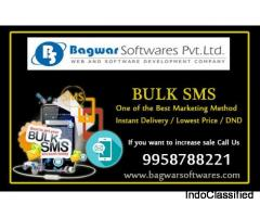 Unlimited Bulk SMS Services pack in India with very little price
