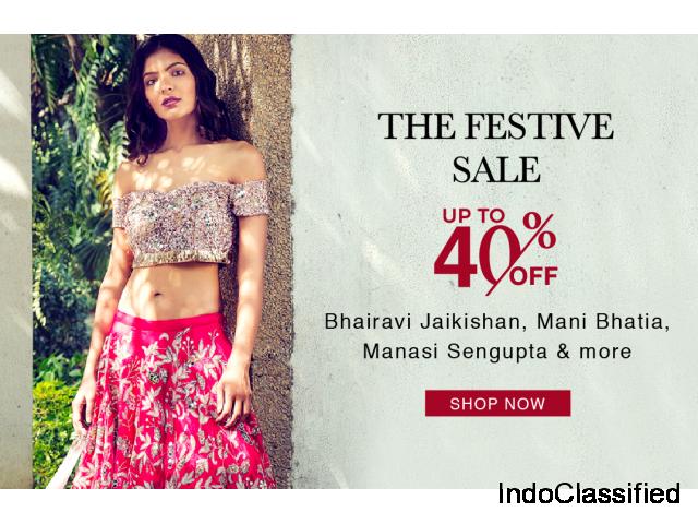 Upto 40% Off on Designer Clothing – Aza Fashions