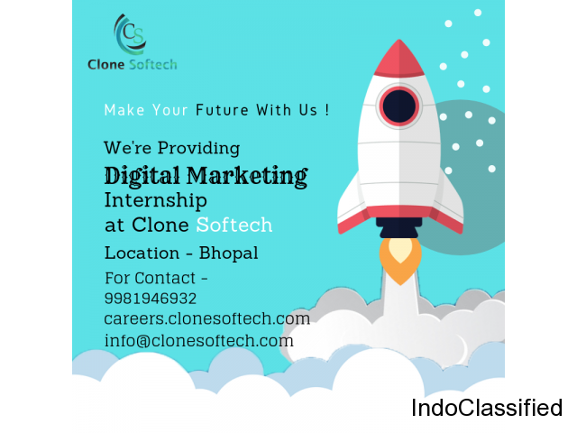 Digital Marketing InternShip In bhopal - Clone Softech