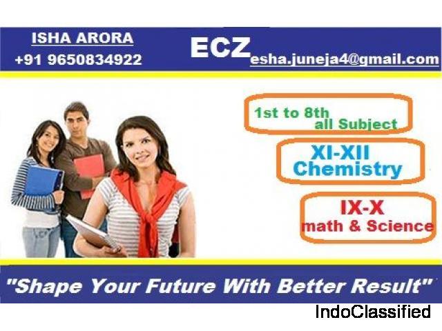 Isha Arora- Math and Science Coaching in Laxmi Nagar ||chemistry Expert