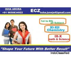 Isha Arora- Math and Science Coaching in Laxmi Nagar ||chemistry Expert
