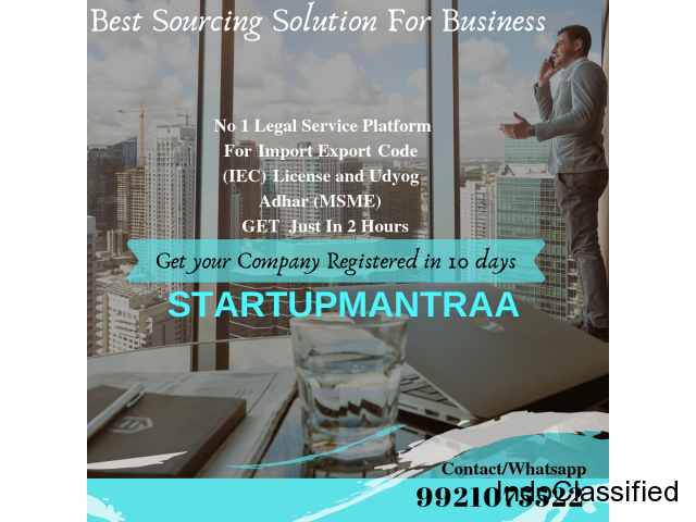 StartupMantraa : Company Registration|Treadmark Registration