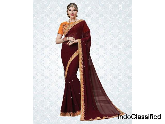 Latest Ombre sarees online shopping at best prices