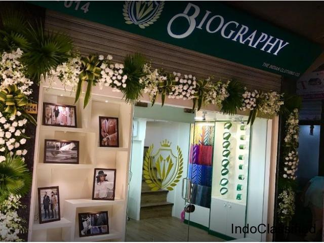 Biography Bespoke - Best Blazers, Sherwani & Formal Wear Tailor in Mumbai & Malad