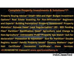 Complete Property Investments & Solutions in Hyderabad India.