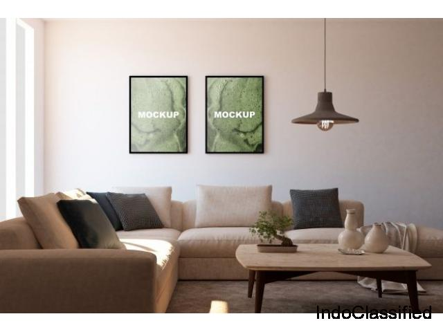 BEST ONLINE LIVING ROOM DESIGNER IN DELHI/NCR