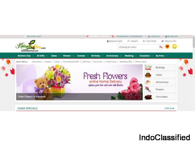 online flowers cakes and gifts delivery in kakinada