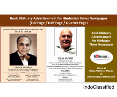 Obituary Display Ad Booking Online