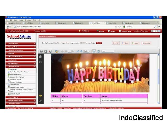 School Admin Management Software