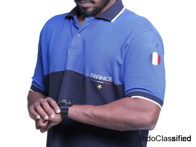 Accro Men's Cotton Polo T-Shirt (France) (Accrn10001U)