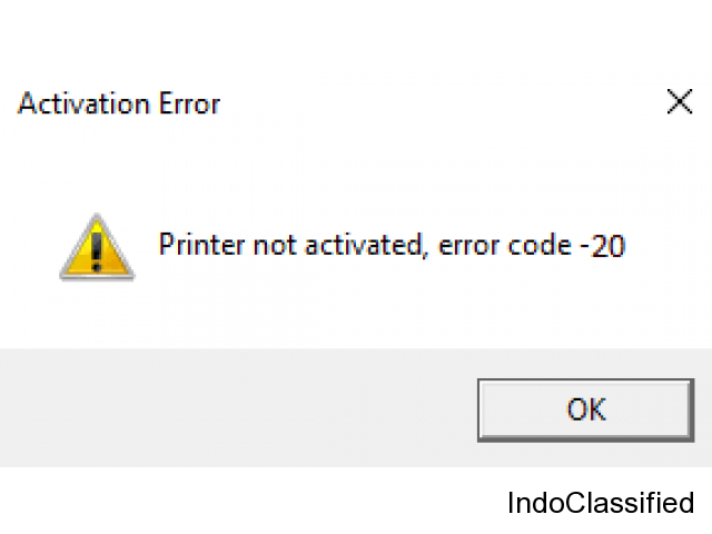 Fix Printer Not Activated Error Code 20? +1-888-877-0901 Toll-Free