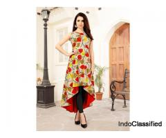 Shop Designer Printed Kurtis Online At Mirraw with Best Offer Price
