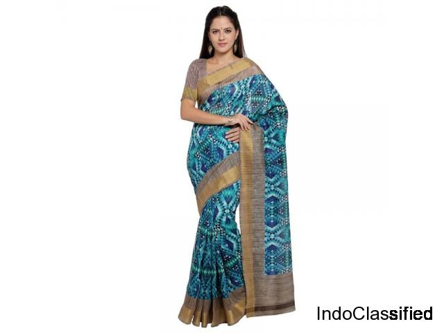 Discount offers on Ikkat Sarees online at Mirraw