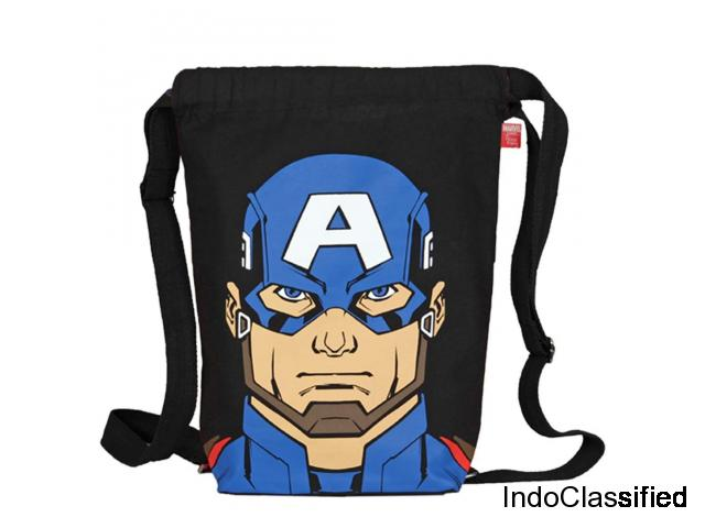 EcoRight Marvel Captain America Printed EcoFriendly  bags Zipper Pocket - Black