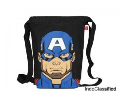 EcoRight Marvel Captain America Printed EcoFriendly  bags Zipper Pocket - Black