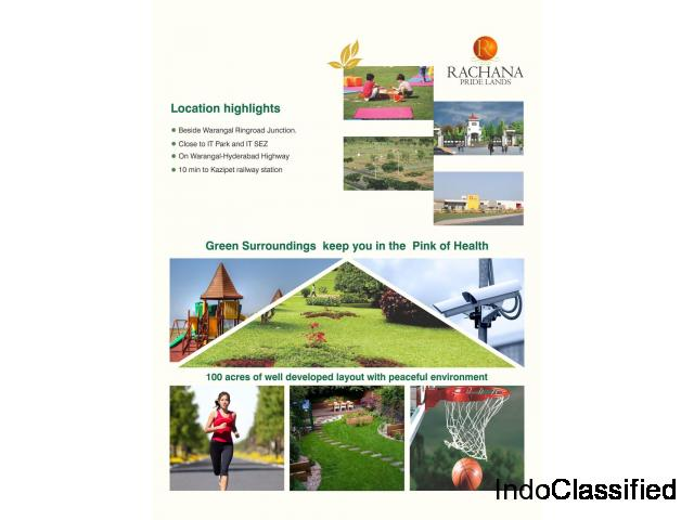 Rachana pride lands |Latest project  with quality at affordability of Rachanagroup