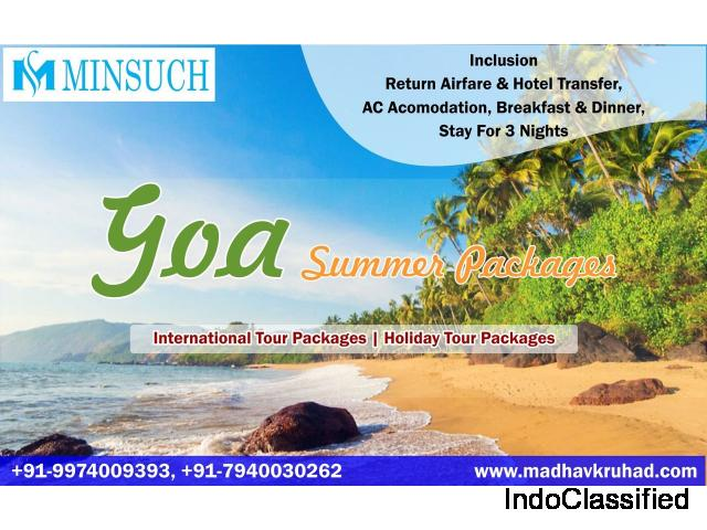 Book Goa Tour Packages from Ahmedabad