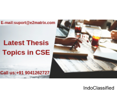 latest thesis topics in cse