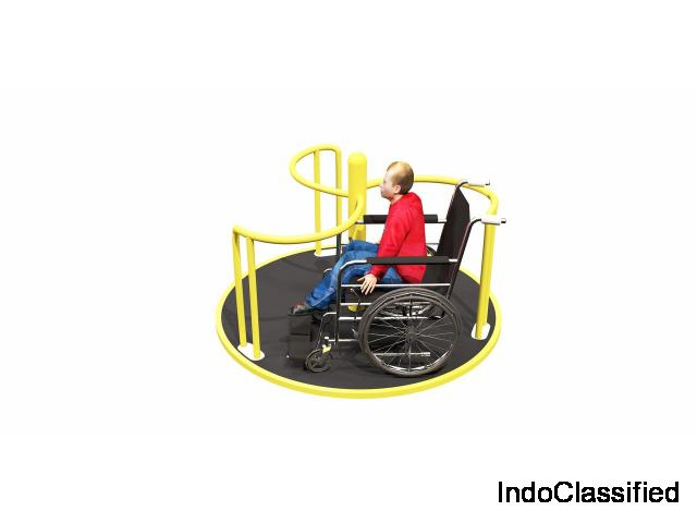 Disabled friendly park/playground equipments for phtsically disabling.