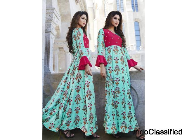 Buy New Styles of Long Kurti Designs for Women @Mirraw