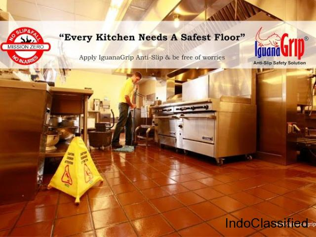 We provide IguanaGrip Anti slip safety solutions for flooring.