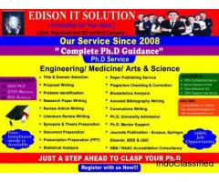 PHD RESEARCH GUIDANCE IN EDISON IT SOLUTION