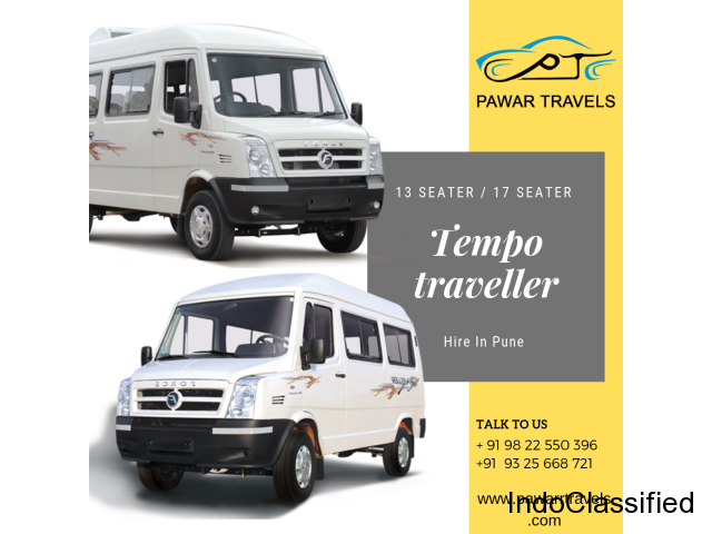 Tempo Traveller 17 Seater On Rent in Pune | Pawar Travels