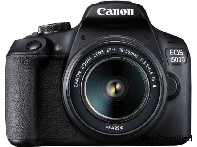 Canon EOS 1500D 24.1MP Digital SLR Camera (Black) with 18-55 and 55-250mm is II Lens, 16GB Card.