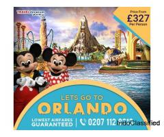 Book cheap flights tickets to Orlando from UK and London to Orlando cheap flights