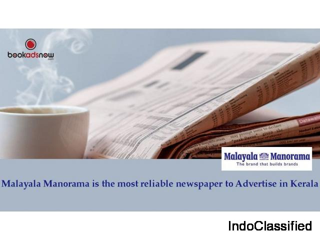 Book Ad in Malayala Manorama for Kochi Region