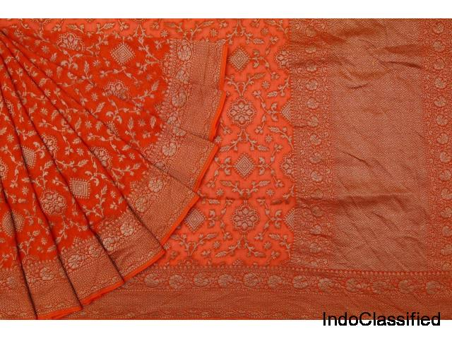 Shop on online for latest wedding banarasi katan silk sarees collection @2019