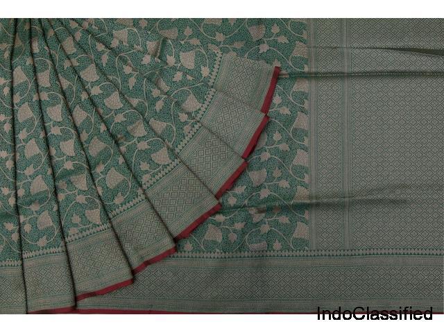 Shop on online for latest wedding banarasi katan silk sarees collection @2019