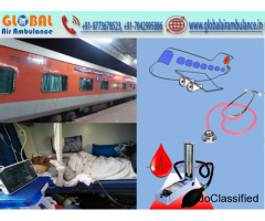 Global Air Ambulance Service in Bagdogra at low-cost price