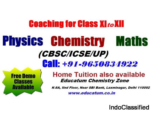Science and Math Coaching classes in Laxmi Nagar-Educatum Chemistry Zone