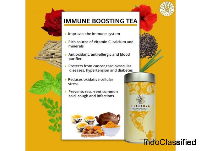 Curcumin Tea For Immunity Booster | Turmeric Tea | Preserva Wellness