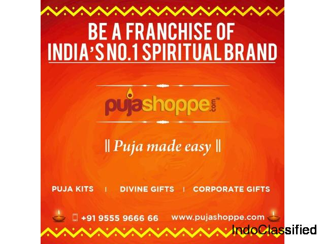 Be a franchisee of a reputed brand like Pujashoppe
