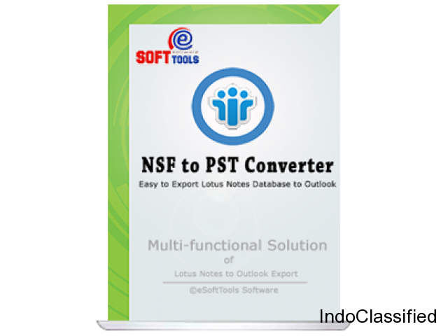 eSoftTools Lotus Notes to PST Converter Software to export NSF file