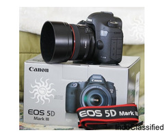 Canon EOS 5D Mark III with EF 24-105mm IS lens $1000 USD