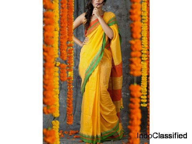 Exclusive Bengal sarees paarijaatham collection online