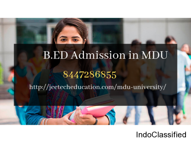 B.ED  Admission in MDU