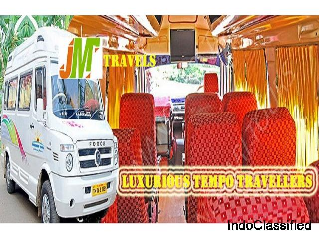 JM Travels -best and modest priced Tempo traveller in chennai for hire