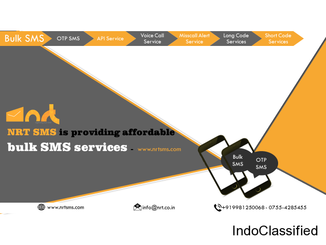 NRT SMS is providing affordable bulk SMS services