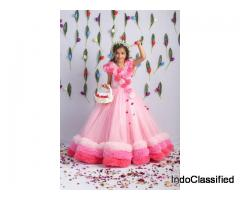 Kids Party Wear Gowns online | Peony Kids