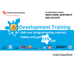 Web development training in Coimbatore using Dotnet, PHP, HTML, and CSS.