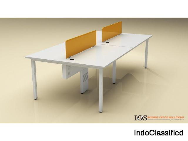 Frosty White  Single Open Office Workstation For Rental, Size: 4x2 in Bangalore