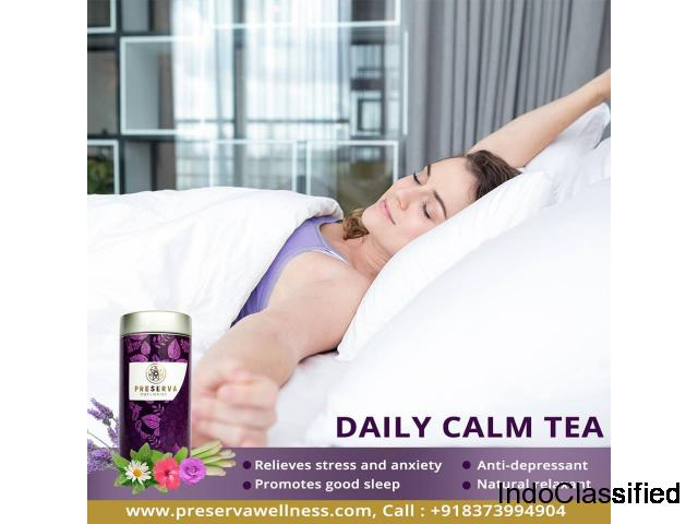 Ayurvedic Tea For Stress Relief | Daily Calm Tea | Preserva Wellness