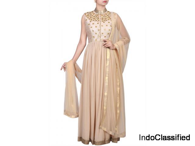 Classy Ethnic Designs on Exquisite Anarkalis @ Thehlabel!